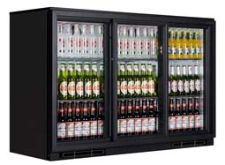 Triple Door Bottle Chiller Display Cabinet